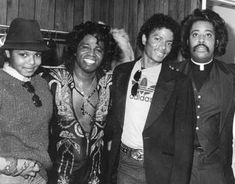 Janet Jackson, James Brown, Michael Jackson, and the Rev. Al Sharpton