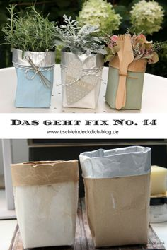Das geht fix No. 14 Tetrapack Upcycling Das geht fix No. 14 Tetrapack Upcycling Tischlein deck dich The post Das geht fix No. 14 Tetrapack Upcycling appeared first on Outdoor Ideas. Upcycled Crafts, Upcycled Home Decor, Diy Home Crafts, Diy Crafts To Sell, Decor Crafts, Tetra Pak, Diy Simple, Easy Diy, Diy Garden Projects