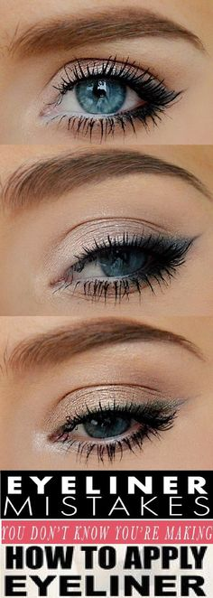 How to apply eyeliner - Tips and Ideas