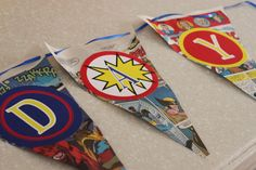 DIY Superhero Birthday Party Banner (FREE Printables & Tutorial) |