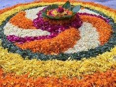 dLcreations Rangoli Deewali Flowers Rangoli
