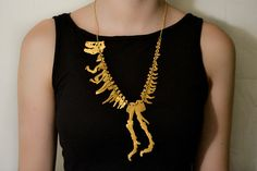 Necklace | Tatty Devine. 'T Rex'.  Originally inspired to make this by the dinosaur at London's Natural History Museum
