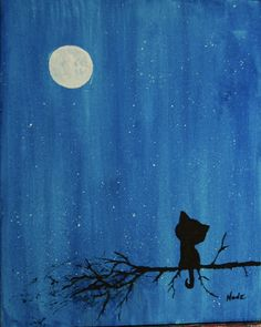 Handmade Shop, Paintings For Sale, Cat Art, Watercolor Painting, Vintage Items, Shops, Night, Etsy, Nature