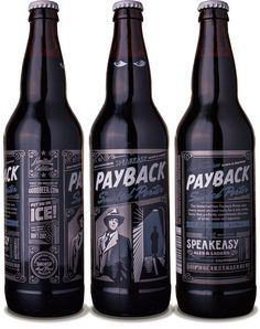 Speakeasy Ales & Lagers Payback Smoked Porter 22oz. - designed by Emrich Office