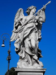 One of Bernini's angels on the Ponte St. Angelo, Rome