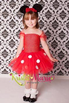 Red Minnie Mouse Tutu Costume Halloween. $35.00, via Etsy.