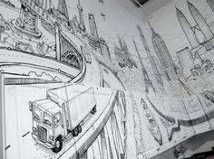 global city 2 Impresionante obra de arte: Global City Wall