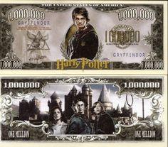 Harry Potter Million Dollar Novelty Money