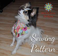 Dog Bandana Sewing Pattern - Dog Accessory PDF Sewing Pattern S202
