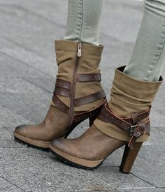 Buckled Boots with skinnies