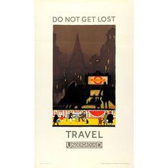 Do not get lost; travel Underground - Kathleen Stenning (1925)