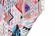 Rainbow Kilim Rug x - Willful Sheepskin Rug, Rugs In Living Room, Kilim Rugs, Vivid Colors, Hand Weaving, Recycling, Rainbow, Pattern, Crafts