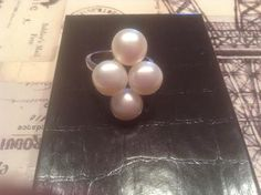 Honora Sterling Culstured Freshwater Pearl 9mm Cluster Ring