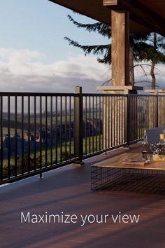 Home Design Diy, Deck Design, House Design, Rustic Outdoor, Outdoor Decor, Front Porches, Fencing, Backyard Patio, Paint Ideas