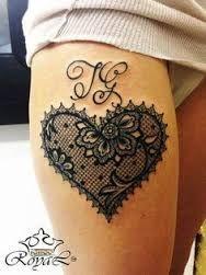 """Résultat de recherche d'images pour """"tatouage dentelle coeur"""""""