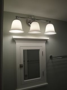 Above Medicine cabinet Lighting | Lighting over surface ...