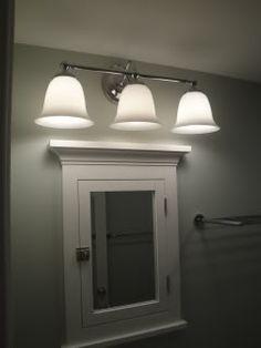 Above Medicine cabinet Lighting  Lighting over surface