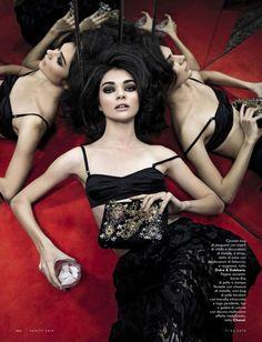 Antonina Vasylchenko by Wayne Maser for Vanity Fair Italia 11th March 2015 dolce & gabbana