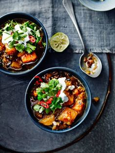 Smoky butternut squash and black-bean soup - Recipes - Food & Drink - The Independent