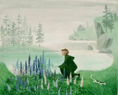 """Barbara Cooney Miss Rumphius and the Lupine in Maine for """"Miss Rumphius"""", 1982"""
