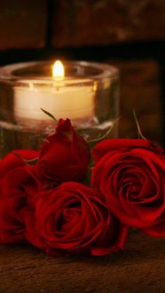 Romantic Evening by Candlelight with Roses