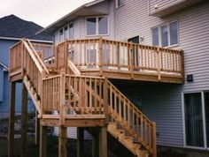 patio...hottub beneath...like how the stairs face the house