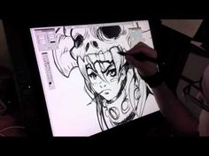 so sick!! this guy shows you how the wacom cintiq works and draws some stuff! YouTube