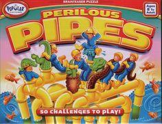 Perilous Pipes  50 uitdagingen waarbij je pijpen moet installeren. De opdrachtkaarten tonen waar ze geplaatst moet worden. Als speler zorg je ervoor dat er geen lege gaten in de constructie zitten.