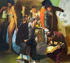 Tibor Csernus, 'Mene Tekel Faresz with Endre Rozsda,' 1989, Kalman Maklary Fine Arts