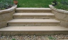 Steps and Step Treads Front Door Steps, Front Stairs, Front Porch, Porch Appeal, Outside Stairs, Step Treads, Garden Steps, Back Gardens, Stepping Stones