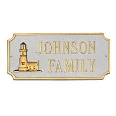 Montague Metal Products Lighthouse Princeton Address Plaque Finish: White / Silver, Mounting: Wall