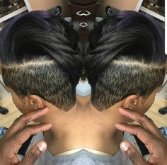It with braids instead of straight hair. Shaved Side Hairstyles, Cute Hairstyles For Short Hair, Undercut Hairstyles, Curly Hair Styles, Natural Hair Styles, Haircuts, Short Sassy Hair, Short Hair Cuts, Straight Hair