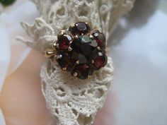 Estate 10K Garnet Ring, Ostby & Barton, Fine Estate Jewelry