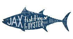 Jax Fish house and Oyster Logo design - coastal