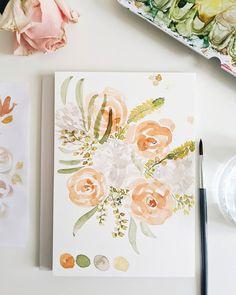 Loose Watercolor Florals  Flower Bouquet Aquarellmalerei Floral Watercolor, Florals, Bouquet, Flower, Inspiration, Watercolor Painting, Floral, Biblical Inspiration, Flowers