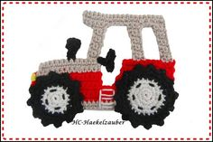 Handcrocheted tractor