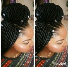 Brilliant Braided Half Updo Faux Locs And Half Updo On Pinterest Short Hairstyles Gunalazisus