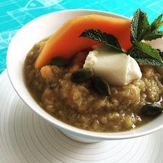 zumKochen: Dal aus roten Linsen und Papaya Curry, Risotto, Ethnic Recipes, Food, Graz, Food Food, Curries, Essen, Eten