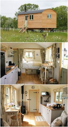15 dreamy shepherd's huts you can rent . - In 15 dreamy shepherd's huts you can rent, -In 15 dreamy shepherd's huts you can rent . - In 15 dreamy shepherd's huts you can rent, - Best Tiny House, Tiny House Cabin, Tiny House Plans, Tiny House Design, Tiny House On Wheels, Small Cabin Designs, Hut House, Small Tiny House, Modern Tiny House