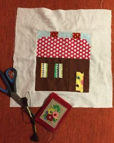 gingerbread house quilt block