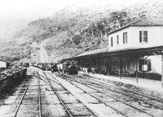 #SPR A antiga estação ferroviária da Raiz da Serra, em operação no início do século XX!!! Foto: acervo de Wellington Ribeiro Borges.