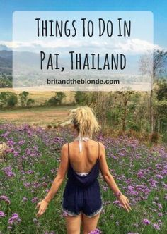Pai is an awesome little town 3 hours away from Chiang Mai in the mountains of Northern Thailand. Read the full list of things to do in Pai here. Koh Samui Thailand, Pai Thailand, Thailand Travel, Stuff To Do, Things To Do, Thai Travel, Thailand Tattoo, Thailand Honeymoon, Northern Thailand