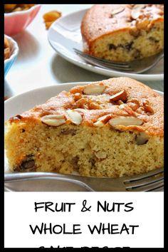 Whole Wheat Cake Recipe, Whole Wheat Flour, Cake Flour, Easy Cake Recipes, Love Cake, Banana Bread, Brownies, Muffins, Cupcakes