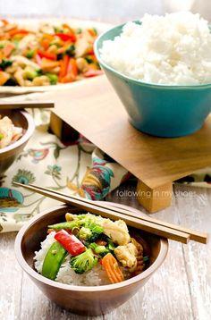 Easy Chicken & Veggie Stir-fry By Rachel L., Following In My Shoes#hebmeals