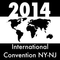 A personal 2014 International Convention logo I made in black and white.