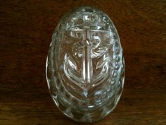 Vintage English Glass Anchor Jelly Mould by EnglishShop on Etsy, $59.00