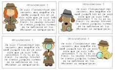 Thème de classe policier   Résonances Diy Halloween Decorations, Halloween Diy, Detective, Sentiments, Crime, Crafts For Kids, Stage, Paper, Reading Comprehension