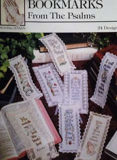 Cross stitch pattern - Bookmarks from the Psalms  Biblical verses from the book of Psalms.  They make great gifts.