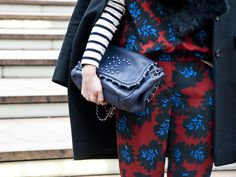 style | Caroline Harper Knapp - in my favorite pattern candy of the day: jumpsuit by J. Crew, paired with a bag by Chanel #NYFW #MBFW #FW15 #MBFW15 #NYFW15 #fashionweek #fashion #NY #NYC #streetstyle #jcrew #chanel #pattern #color http://www.amychendesign.com/blog/2015/2/20/ny-fashion-week-2015