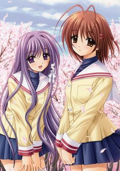 Kyou and Nagisa fanart. ~Clannad